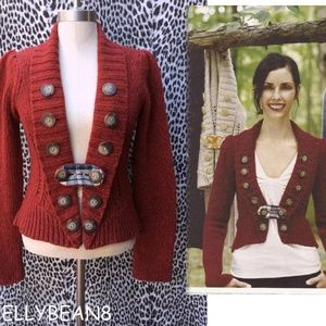 Charlie & Robin PARADE ROUTE Cardigan RED M RARE!